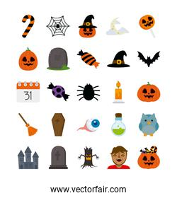 bundle halloween with set icons