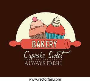 Bakery design icom vector ilstration
