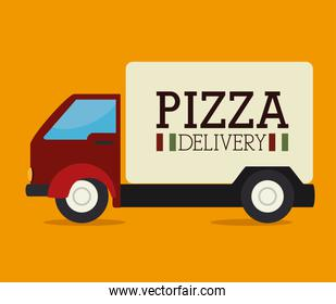 Pizza design, vector illustration.