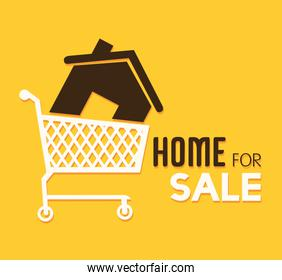 Real estate over yellow background vector illustration