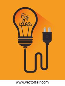 Big idea, creative and intelligence