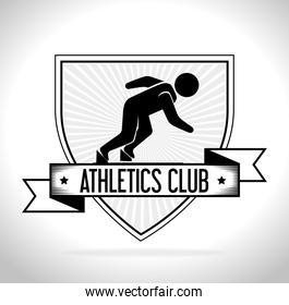 Sport games and fitness lifestyle graphic