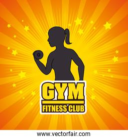 Gym and fitness lifestyle graphic design