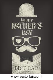 happy fathers day design