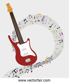 electric guitar  isolated icon design