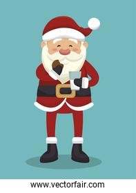 santa claus isolated icon design