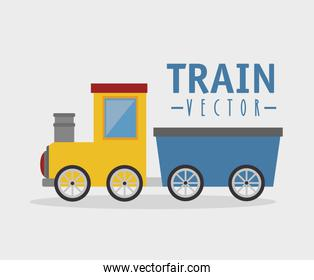 toy train isolated icon design