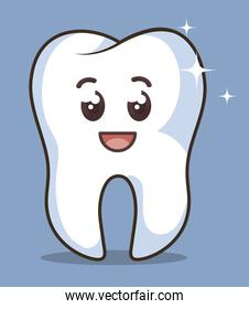 human tooth character icon