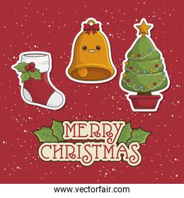 happy merry christmas   icon