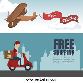 free shipping delivery icon