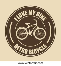 love bicycle lifestyle  icon