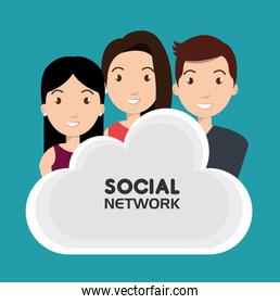 social network media isolated icon