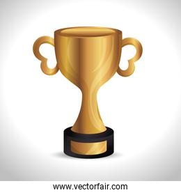 trophy gold award d icon