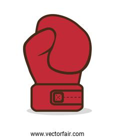 boxing gloves punch isolated