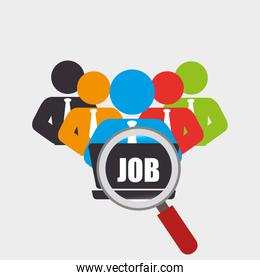 human resources recruit search design isolated