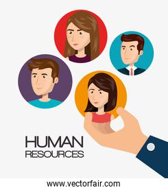 human resources recruit hired design isolated