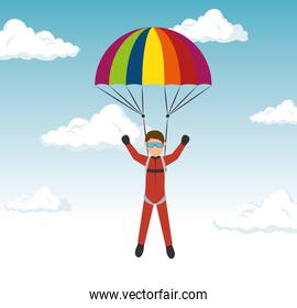 extreme sports skydiving design