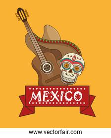 icons music mexican design