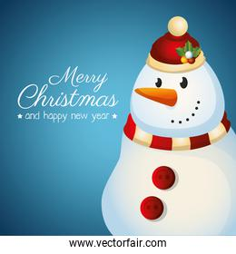 card merry christmas and new year design isolated