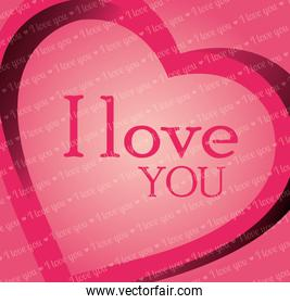 valenties day card i love you graphic