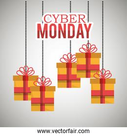 gifts hanging cyber monday card