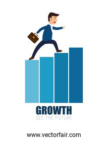 man business walking growth progress