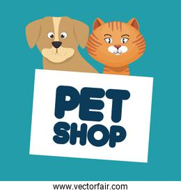 pet shop cat and dog lettering