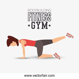 bodybuilding fitness gym woman exercising