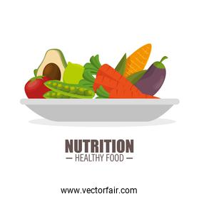 nutrition healthy food jflatcy and tasty vegetables over plate
