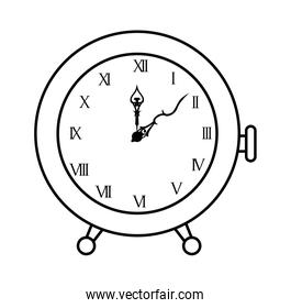 hand drawing clock classic with rman numbers