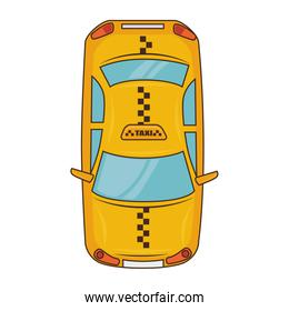yellow taxi car vehicle service