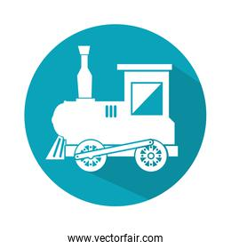 train toy isolated icon