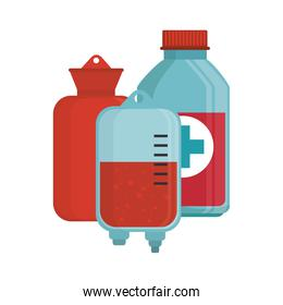 blood donation bag bottle medical
