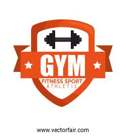 gym fitness sport athletic barbell banner