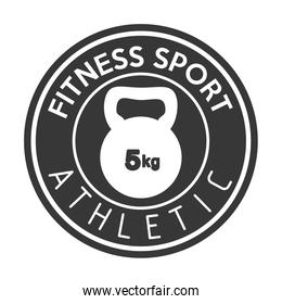 fitness sport athletic kettlebell weight