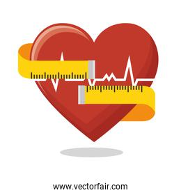 heart rate measure tape fitness health