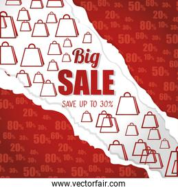 big sale save up discount torn paper bags