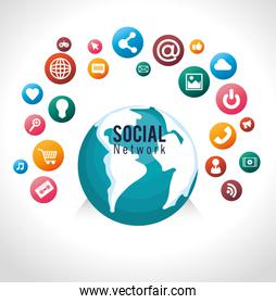 globe connected social network