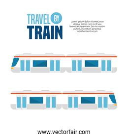 travel by train concept icon