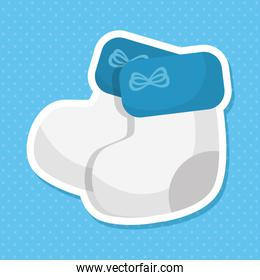 cute baby socks icon