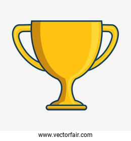 trophy cup isolated icon