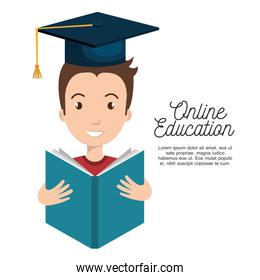 online education concept icon