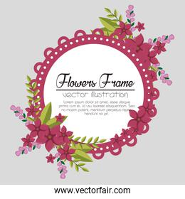 cute flowers frame background