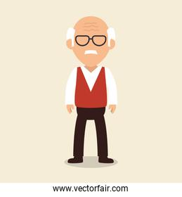 old man character avatar icon
