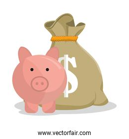 savings and money concept