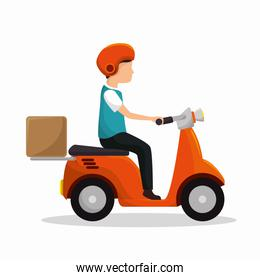 motorcycle delivery service icon