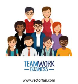 teamwork business people icon