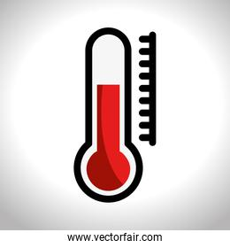 thermometer sign isolated icon
