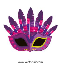 mask carnival party icon