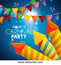 carnival party fireworks card